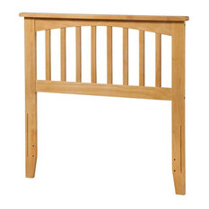 Atlantic Furniture Mission Twin Spindle Headboard In Natural