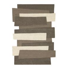 Pebbles Steps Rug, Brown, 240x170 cm