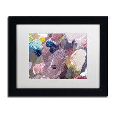 "David Lloyd Glover 'Cloud Patterns' Art, Black Frame, 11""x14"", White Matte"