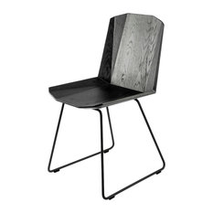 Ethnicraft Facette Oak Dining Chair, Black