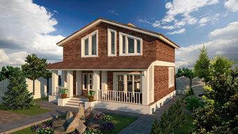 Двухэтажный дом 8 на 10