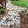 stabilizing river rock path