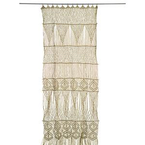 Macramé Door Curtain, Olive
