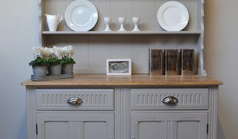 OLD ENGLISH PALE GREY AND LIGHT OAK DRESSER