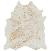 Surya Antico Ato-1000 Hide Leather & Fur Area Rug, Rectangular 5'x7'