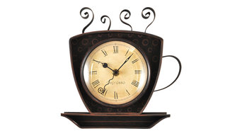 Bronze Coffee Cup Wall Clock