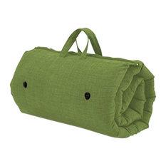 Futon Sleeping Mattress, Lime Green Upholstery Fabric, Roll Up-Zip Up Design