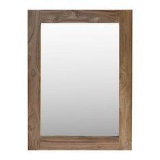 Teak Wall Mirror, 90x120 cm