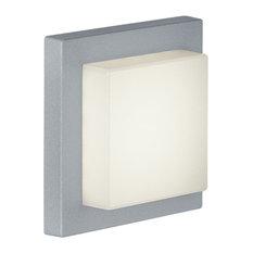 Hondo 1 Light Outdoor Wall Light in Titanium And Light Grey