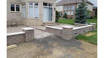 Brick Sidewalk installation in Township, MI