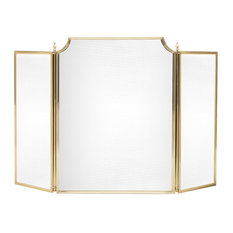 English Brass Fireplace Screen, Medium