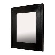 "14""x18"" Fox Hollow Furnishings Mirrored Medicine Cabinet, Black"