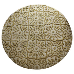 Mayfair Rug, Knightsbridge Gold, 150 cm Round