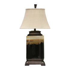 Signature 1 Light Table Lamp in Black And White Glaze