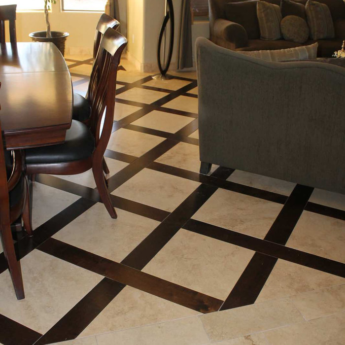 Wood & Travertine Flooring