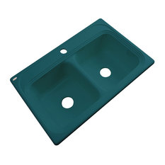 Tacoma 1-Hole Kitchen Sink, Teal