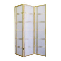 Ore International Girard 3-Panel Room Divider, Natural