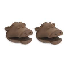 Fun 100% Silicone Brown Cow Pot Holders