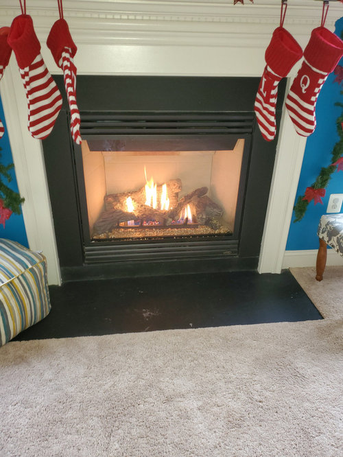 Builder Grade Fireplace Slate Surround, Can You Tile Over A Slate Fireplace Surround