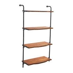 Vanessa Iron and Wood Wall Shelf