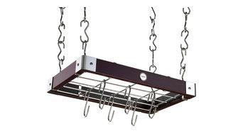 Rektangulär takhängare i espressofärgat trä 60x50 cm