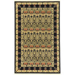 Unique Loom - Unique Loom Carnation Edinburgh Area Rug, Black, 5'x8' - The classic look of the Edinburgh Collection is sure to lend a dignified atmosphere to your home. With an array of colors and patterns to choose from, there�s a rug to suit almost any taste in this collection. This Edinburgh rug will tie your home�s decor together with class and amazing style.