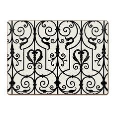 Cork-Back Hardboard Placemats Garden Gate Set of 4