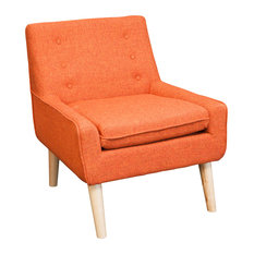 GDFStudio - Brockston Fabric Accent Chair, Orange - Armchairs and Accent  Chairs