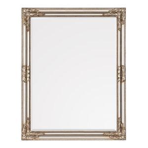 Versailles Wall Mirror, Antique Silver, 60x80 cm