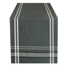 """DII Gray French Chambray Table Runner 14""""x72"""""""