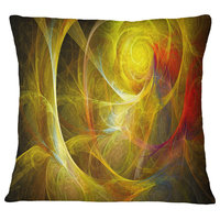 """Bright Yellow Stormy Sky Abstract Throw Pillow, 18""""x18"""""""