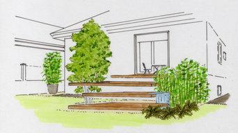 Diseño de jardin en la costa lucense