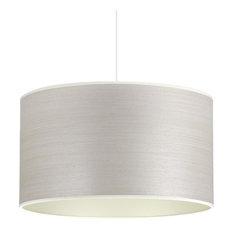 Silver Birch and Champagne Wood Veneer Pendant Light, 35 cm