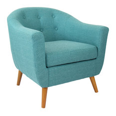 MOD   Norman Retro Accent Chair, Teal   Armchairs And Accent Chairs