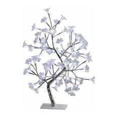 White Morning Glory Led Lighted Decorative Tree