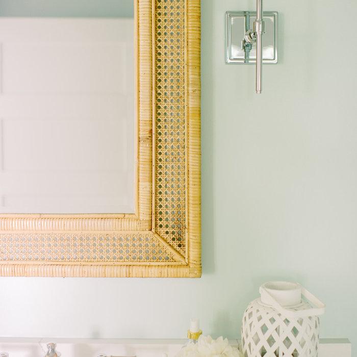 Laura Boyd Interior Design | Old Village Charleston Pool House Bathroom