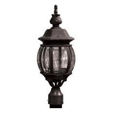 Classico 3-Light Black Outdoor Light