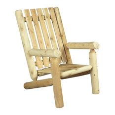 White Cedar Wooden Armchair, High Back