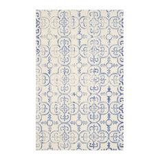 Safavieh   Safavieh Caitlin Dip Dye Rug, Ivory And Blue, 5u0027x8