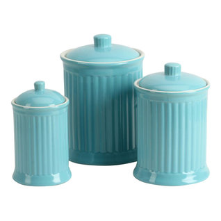 Omniware Simsbury Canisters Turquoise Set Of Kitchen Canisters And Jars  With Kitchen Canisters Blue