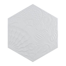 """SomerTile Gaudi Lux Hex 8-5/8""""x9-7/8"""" Porcelain Floor and Wall Tile"""