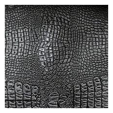 Zapata Chic Crocodile Skin Vinyl Upholstery Fabric, La Noche