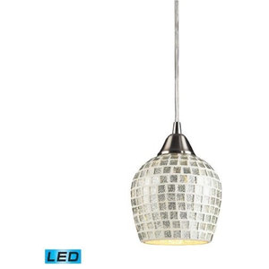 ELK Lighting Fusion 1-Light Mini Pendant - 528-1SLV-LED