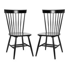 Safavieh Parker Spindle Dining Chairs, Set of 2, Black
