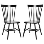 Safavieh - Safavieh Parker Spindle Dining Chairs, Set of 2, Black - Set up a stylish spot to eat breakfast, lunch or dinner with the Safavieh Parker Dining Chairs. Each piece in this set of two features clean lines and fresh coloring for country charm. Placed at your dining room table or breakfast nook, the Safavieh Parker Dining Chairs make sprucing up your design as easy as pie.