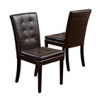 GDF Studio Barrington Leather Dining Chair, Set of 2
