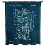 Oliver Gal Reconfigurable Toy 1985 Shower Curtain 71x74