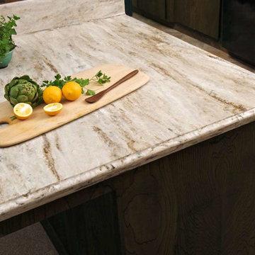 Corian® Sandalwood Kitchen
