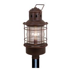 "Hyannis 10"" Outdoor Post Light, Burnished Bronze"