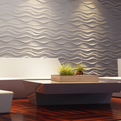 new designes for abstract 3D wall decor wave panels